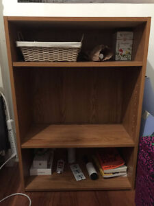 Wooden Book Shelf with Adjustable Shelves