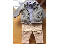Boy Full set trouser shirt n cardigan