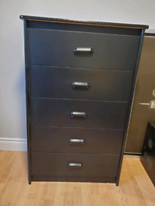 Black dresser and one side table