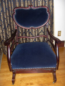 """ANTIQUE PLATFORM ROCKER"""