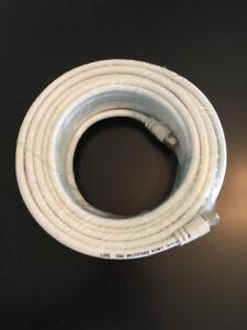 Coaxial cable New 50ft / Câble Coaxial Nouveau 50 pieds