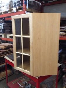 New Maple corner wall cabinet.