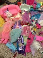 Barbie furniture, clothes and misc items