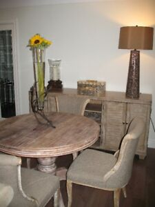 DINING ROOM SET - ROUND TABLE/BUFFET/4 CHAIRS