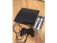 120gb PlayStation 3, PS3 with 5 games controller and leads