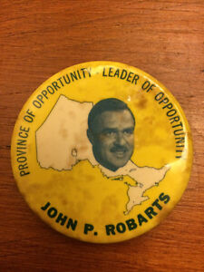 John Robarts Election button