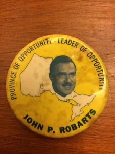 John Robarts Election button
