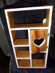 hand painted & refinished in milk paint small heart shelf