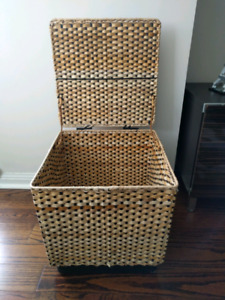 """RARE mint condition! IKEA Alkov 15"""" storage basket with flip-top"""