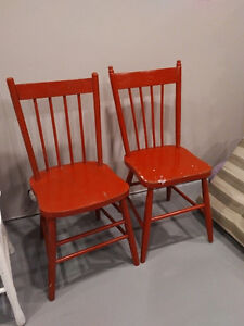 2 vintage wooden chairs - $10 to 15 each or $20 for both