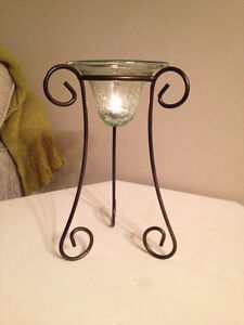 Beautiful Glass Candle Stand