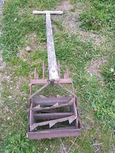 Home made Vintage Antique push weeder/tiller
