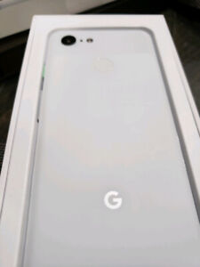 WHITE GOOGLE PIXEL 3 - Like new in box - buy or trade