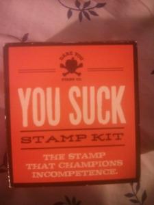 "Novelty ""Aggressive Stamp Kits"""