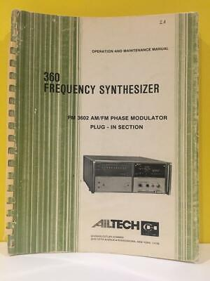 Ailtech 360 Frequency Synthesizer Pm 3602 Amfm Phase Modulator Plug-in Manual