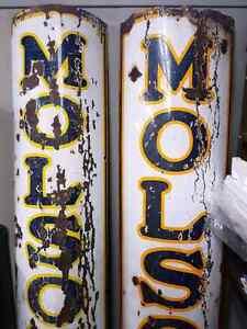 Rare Molson 7 foot porcelain signs. Kitchener / Waterloo Kitchener Area image 3