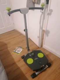Twist and shape fold up exercise equipment