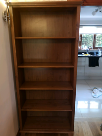 Real wood bookcase