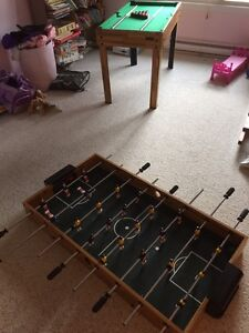 Game table  pool and foosball.