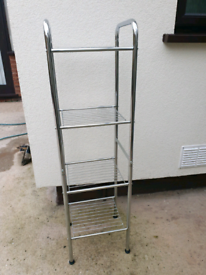 Chrome shelving unit, 4 shelves