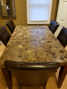 Real Stone dinning room table