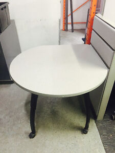 Teknion Tear Drop Tables - Great for wasted corner spaces