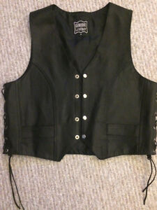 Brand New Leather Vest Men's size MED