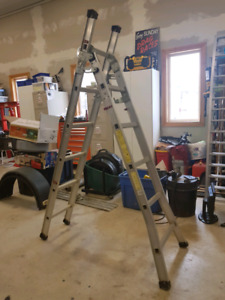 Aluminum combo multi purpose ladder