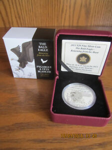 $20 Pure Silver Coin of a Majestic Bald Eagle