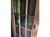 Two hardwood internal doors.