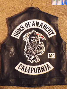 SONS OF ANARCHY AUTOGRAPHED OUTLAW VEST SOA