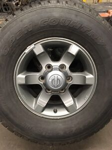 2002 Frontier 16 inch tires and aluminum wheels