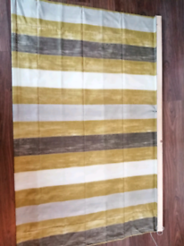 Striped Grey, Neutral Roman Blind
