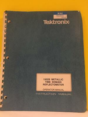 Tektronix 070-6266-01 1502b Metallic Time Domain Reflectometer Operator Manual
