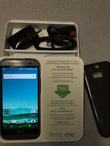 HTC One M8 - Mint Condition - All Accessories and Gel Case
