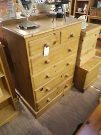 Pine chest of draws