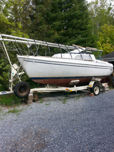 20 foot Sailboat on Trailer