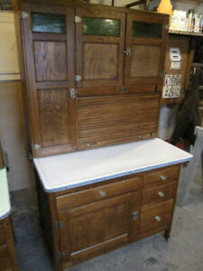 EXCELLENT OLD HOOSIER CUPBOARD CABINET COMPLETE SUGAR & FLOUR