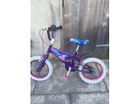 Girls angle bike