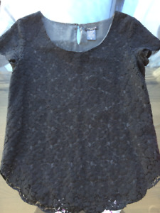 Talula Black Lace Top- Size Small.