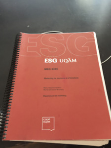Marketing de tourisme et d'hôtellerie MKG 3315 ESG UQAM