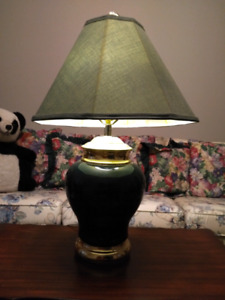 Dark Green Glass Lamps