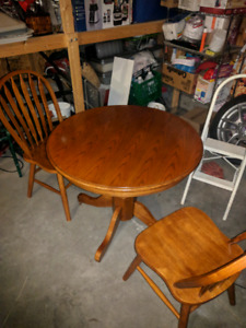 Small 2 chair solid wood kitchen table