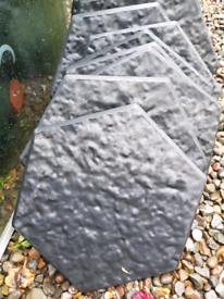 10 RUBBER STEPPING STONES