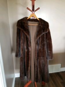 Ladies mink fur coat