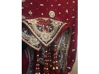 Beautiful Classical Lengha Vintage style Pakistani/Indian
