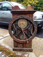 Time Recording Punch Type clock with Oak Case