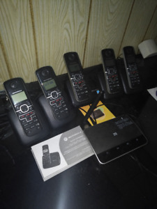 Cordless Motorola phone system & wireless home phone Base
