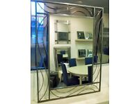 Wall Mirror in Art Nouveau frame. 100 x 75cm. BNIB