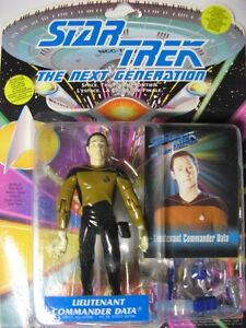 "Star Trek Playmates 4.5"" Action Figures w/ RARE Cdn Trading Card"